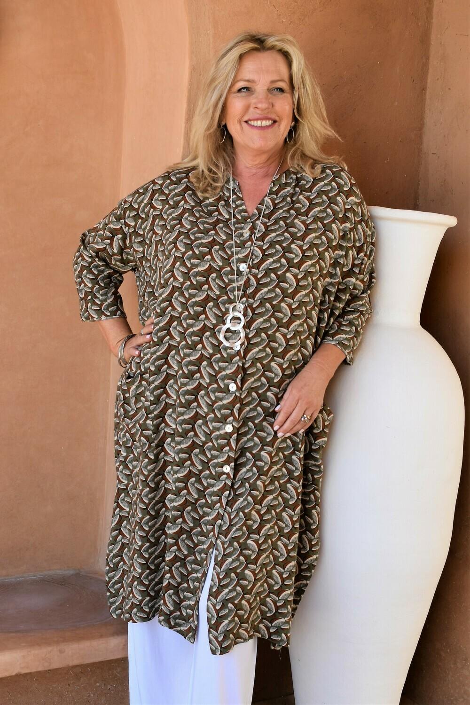 Jenina -Wide cut printed tunic/jacket