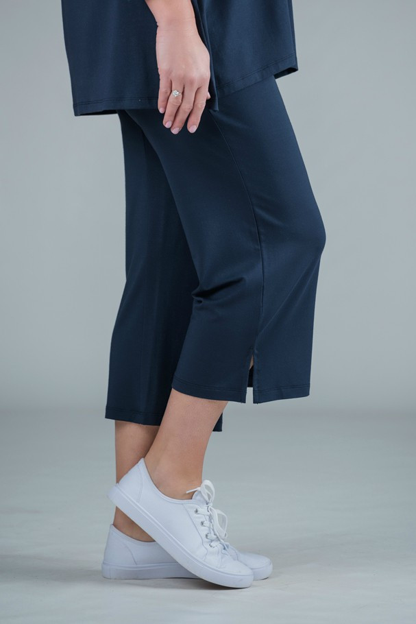 Payton - Jersey crop trousers navy