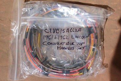 1961 1962 Lincoln Convertible Top Wire Harness Set NEW C1VB-15B662-A