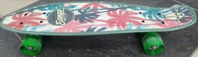 S00287 Скейтборд подростковый пластиковый светящиеся колёса