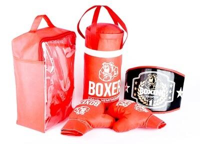 Боксерский набор (груша,пояс, перчатки) Лидер 21549