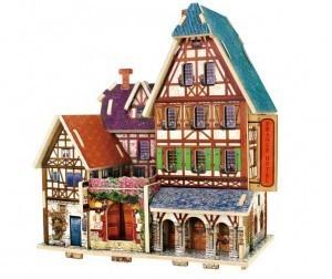 Деревянный 3D пазл «HOTEL» ROBOTIME 33 детали F127