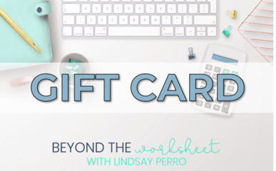 Beyond the Worksheet Gift Card