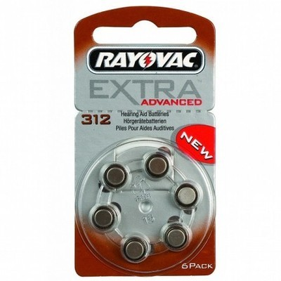 Rayovac Size 312 Batteries (Box of 60 Cells)