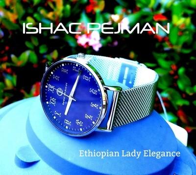 የሴቶች የግዕዝ ቁጥር ያለው ሰዓት  Ethiopian Lady Elegance Stainless steel Japan Quartz watch