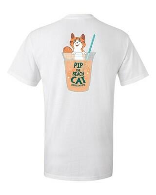 Pip in an Orange Crush T-Shirt