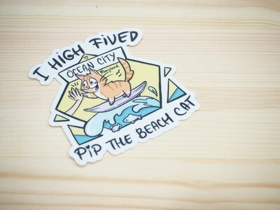NEW Ocean City Themed I High-Fived Pip Sticker