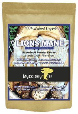 Lion's Mane Mushroom 100% Organic Extract