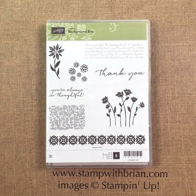 Background Bits Clear-Mount Stamp Set - NEW