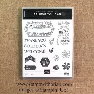 Believe You Can Photopolymer Stamp Set