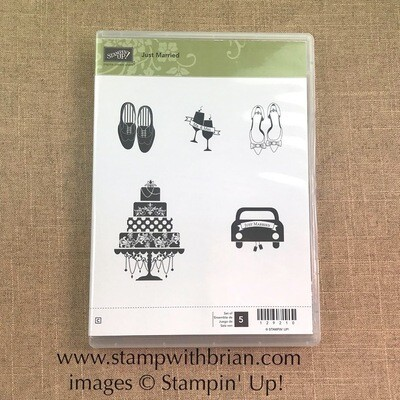 Just Married Clear-Mount Stamp Set