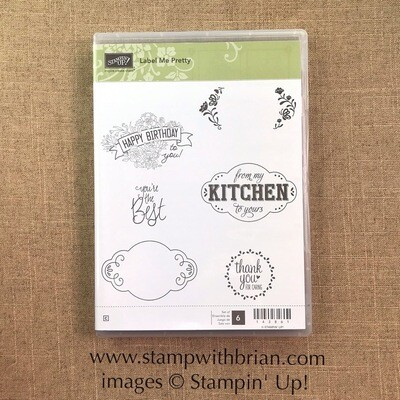 Label Me Pretty Clear-Mount Stamp Set