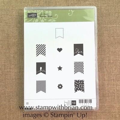 Banner Blast Clear-Mount Stamp Set - NEW