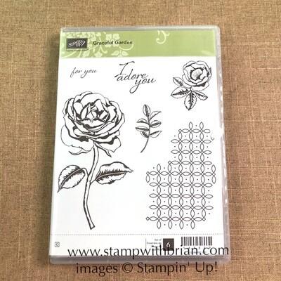 Graceful Garden Clear-Mount Stamp Set - NEW