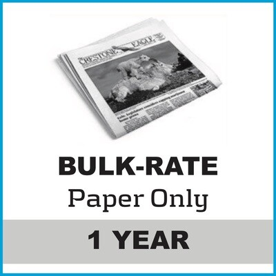 Crestone Eagle News -  Annual Paper Subscription