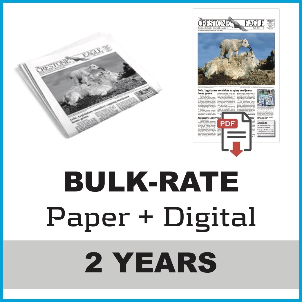 Crestone Eagle News - 2 Year Paper + Digital Subscription