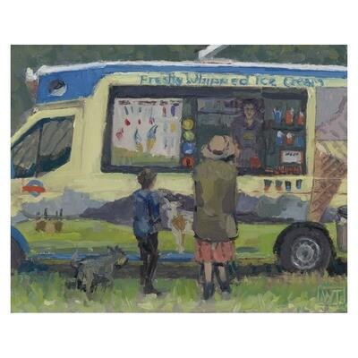 Queue at the Ice Cream Van, Standon Calling 2019