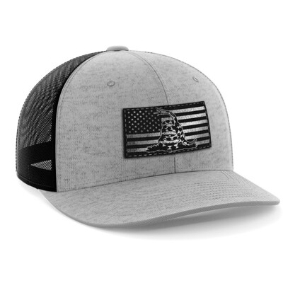 Hat - Black Leather Patch: Dont Tread On Me
