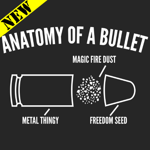 T-Shirt - Anatomy of A Bullet