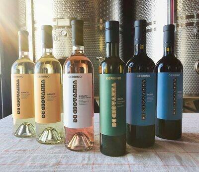 GERBINO Bio Wein & Olivenöl - 6 Flaschen