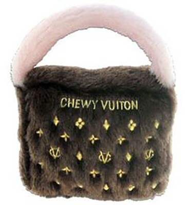 Dog Diggin Designs Brown Chewy Vuiton Toy Small