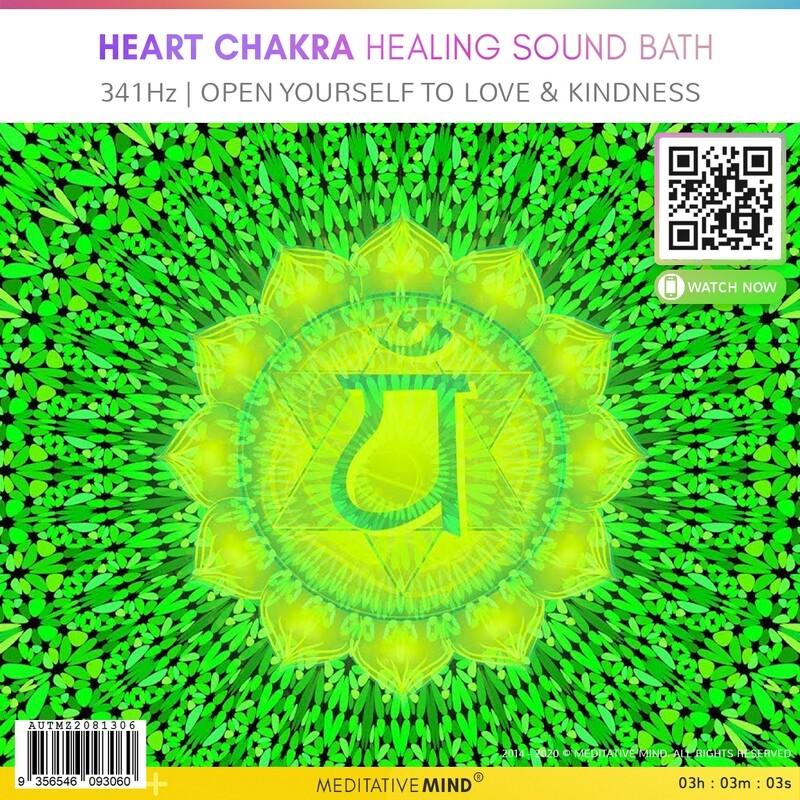 HEART CHAKRA HEALING SOUND BATH - 341Hz | Open Yourself To Love & Kindness