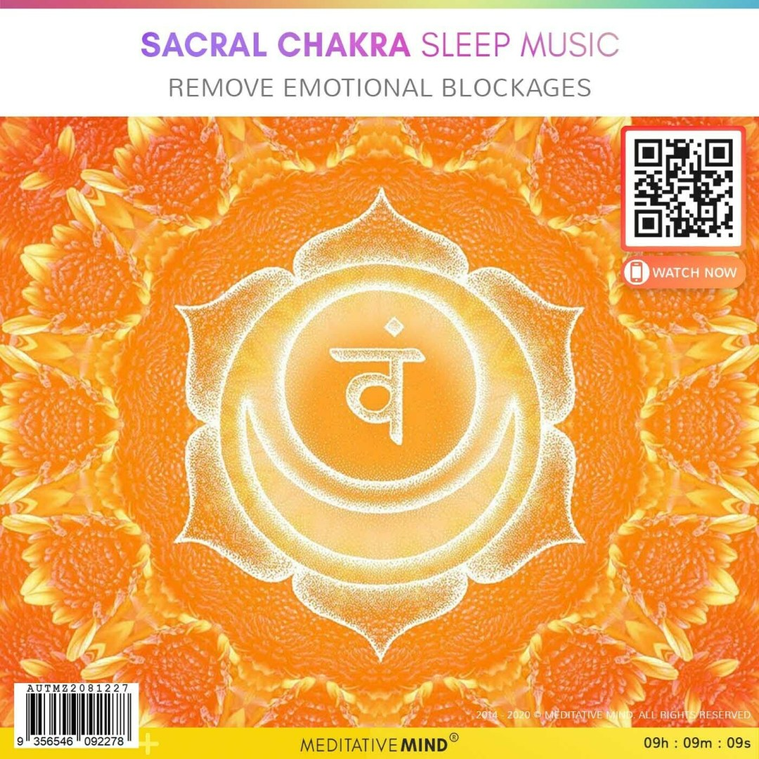 SACRAL CHAKRA Sleep Music - Remove Emotional Blockages