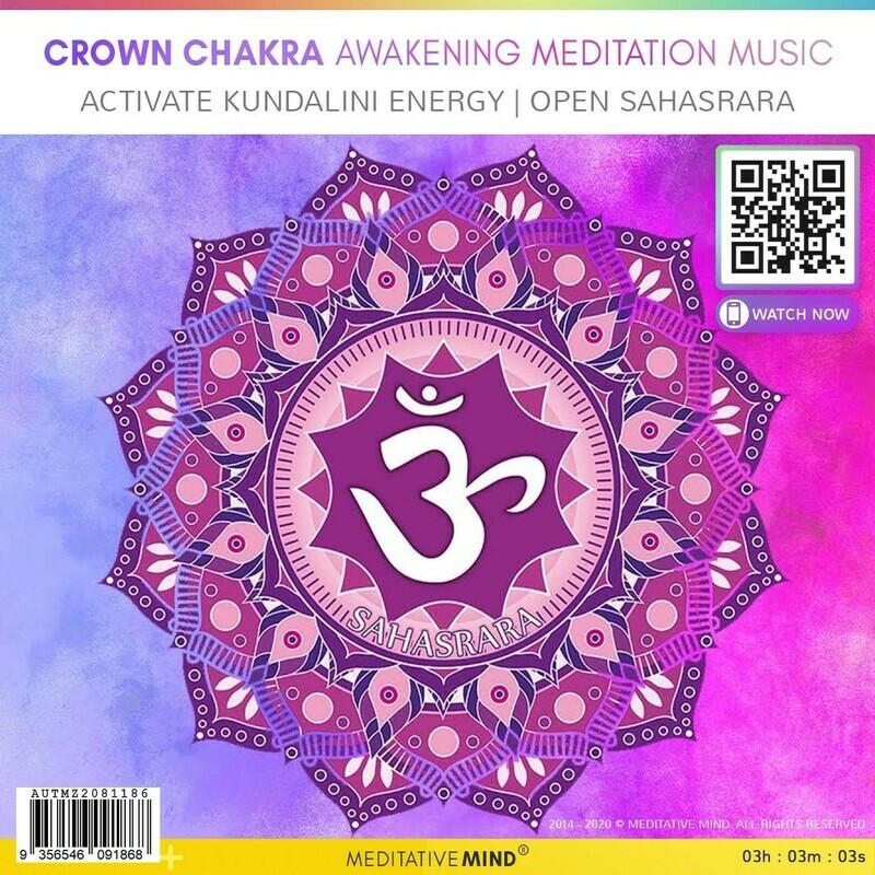 CROWN CHAKRA AWAKENING MEDITATION MUSIC - Activate Kundalini Energy   Open Sahasrara