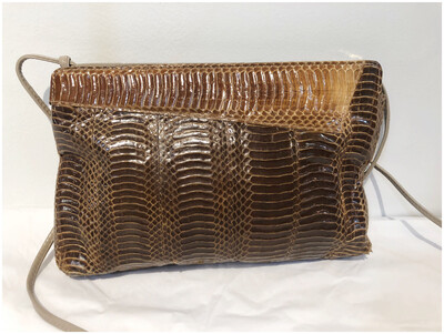 Vintage Reptile Leather Boho Crossbody Purse