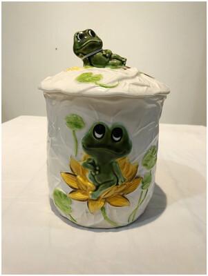 Vintage 1978 Kitchen Frog Canister