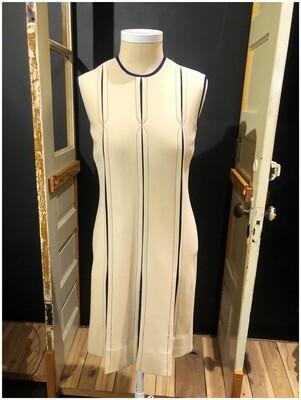 1950's Vintage Italian Front Pleated Sleeveless Dress