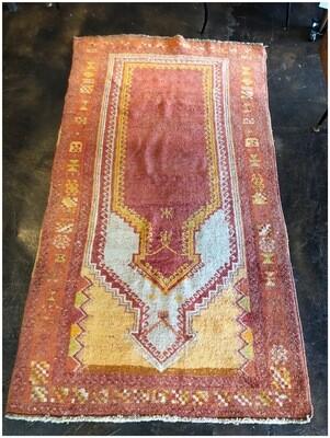Vintage Handmade Prayer Rug
