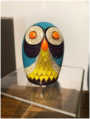 Vintage 1960's Colorful Owl Bank