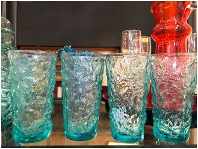 Vintage Aqua Highball Glasses