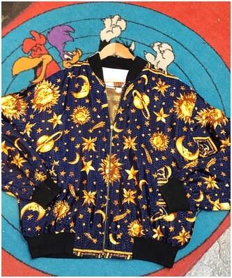 Vintage Silk Reversable Bomber Jacket