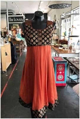 Modern Two Toned Sleeveless Dress