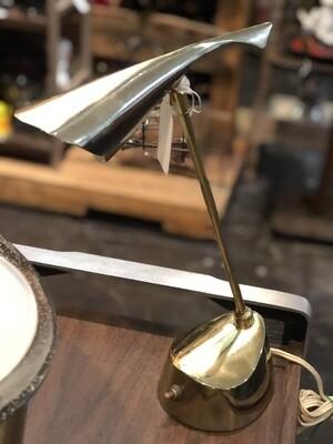 Mid Century Atomic Brass Table Lamp