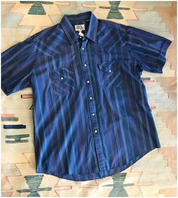 Vintage Ely Cattleman's Pearl Snap Short Sleeve Shirt