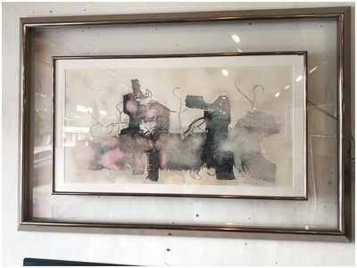 Mid Century Lithograph by Laszlo Dus with Certificate of Authenticity