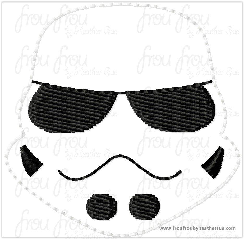 Clippie Space Trooper Cutie Space Wars Machine Embroidery