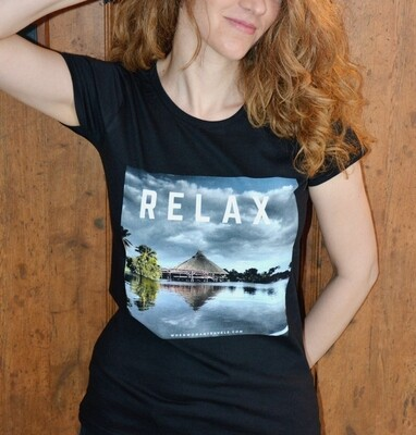 RELAX. Travel tee black