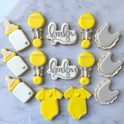 Baby Themed Royal Icing Cookies