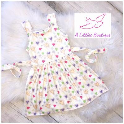 (159-1) Hearts & Flowers Dress 10/12