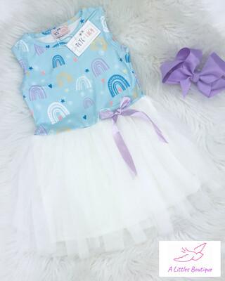 (155-1) Rainbow Tutu Dress 2T