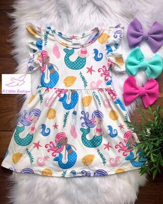 (164-1) Colorful Mermaid Dress 2T