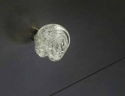 Deco & Deco Decorative Cabinet Knobs Italian Hand-made Murano Glass Cabinet Knobs Silver