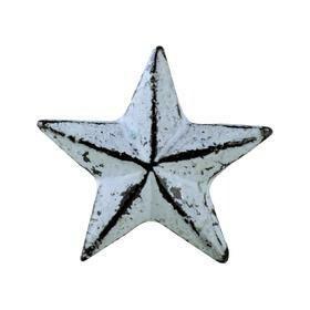 Charleston Knob Company  VINTAGE IRON DECO DISTRESSED GREY STAR CABINET KNOB