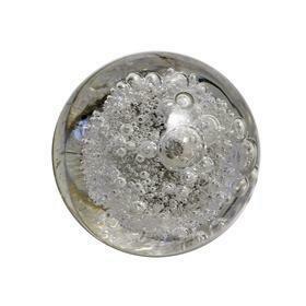 Charleston Knob Company  CRYSTAL BUBBLE GLASS CLEAR ROUND CABINET KNOB