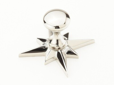 Schaub & Company Symphony  Sonata Collection Cabinet  Knob w/Star Backplate, Polished Nickel, Knob 11/16