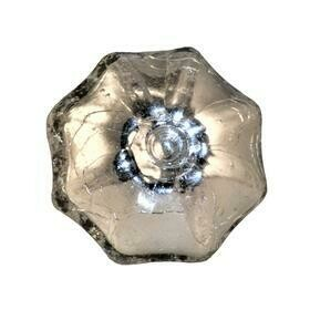 Charleston Knob Company Silver Crackled Glass Parasol Cabinet Knob